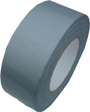 50mm x 50m Silver HD Duct Laminated Cloth Tape
