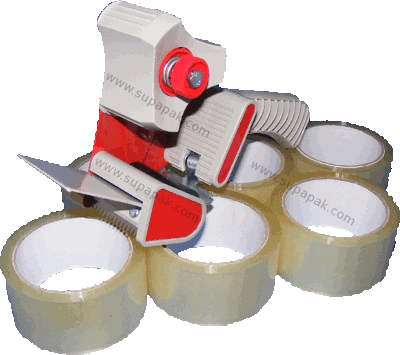 Tape Saver Kit - 36 Rolls Brown 48mm Adhesive Tape + Dispenser